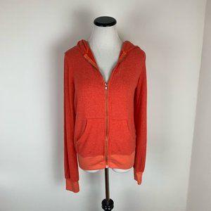 Wildfox NWT Zip Up Soft Hoodie Sweatshirt Red
